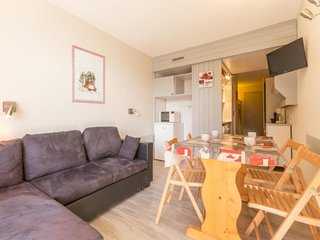 Studio 4 personnes avec balcon, residence Belles Challes