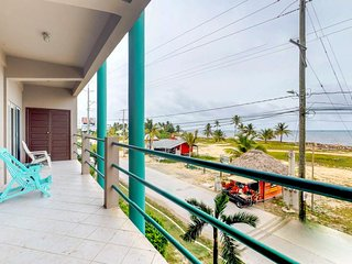 Water-view retreat with shared pool, easy beach access, and convenient location