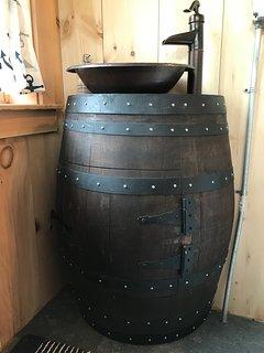 Bathroom wine barrel vanity