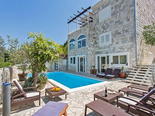 Villa White Zaton- Large stone villa with pool near Dubrovnik