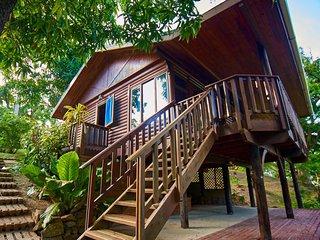 Erasmus Cove Tobago rainforest cabin | private beach, waterfall