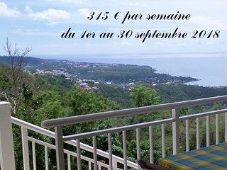 Cote Caraibes : Studio Azur avec tres belle vue entre mer & foret tropicale !