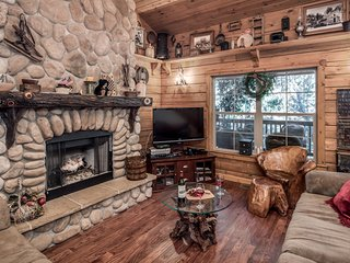 Cabin near Black Forest w/ WiFi, Fireplace, Grill, Big Screen TV & Hot Tub
