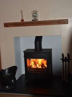 Cosy log burner for the winter months.