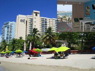 Isla Verde Beach Front! - 2 Q Beds, WIFI, Free Parking - Full Ocean View