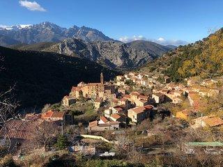 Charmant F2 dans joli village Centre Corse