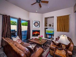 NEW LISTING! Resort-style, custom home w/flagstone patio, pool/hot tub & firepit