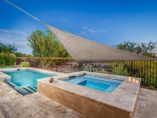NEW LISTING! Large, elegant home w/pool, hot tub, terrace & lovely desert views