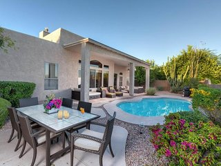 NEW LISTING! Lovely home w/pool, firepit, garden patio & great views  -1 dog OK