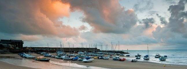New Quay Harbour, about 30 minutes away