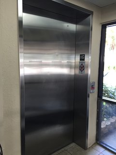 Elevator in the middle of the building for easy access.