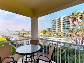 Waterfront condo features a balcony w/ great views plus a shared pool & hot tub