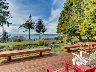 NEW LISTING! Gorgeous, bayfront home w/jet tub, outdoor firepit, deck, and more