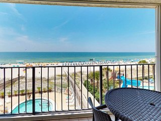 NEW LISTING! Direct beachfront condo w/shared pool, private balcony & views