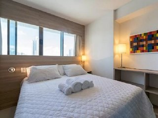 NOB1804 Excellent Flat in Boa Viagem with two bedrooms, at Bristol Suites. Comfo