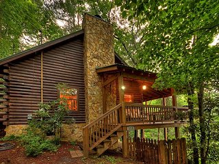Sandy's Mountain Maison - Mountain View Log Cabin, Hot Tub!
