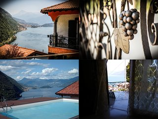 Villa Miranda, spectacular view on the lake, private garden and pool