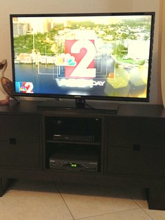 Evening entertainment requires a 40' TV and DVD player..  We gotcha covered !