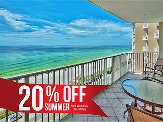 20% OFF Summer! GULF VIEW DLX Beach Condo*Resort Pool/Spa Gym + FREE Perks