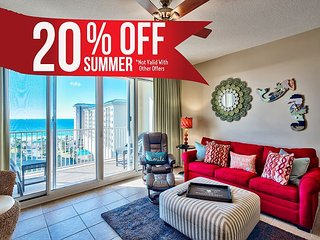 20% OFF Summer! GULF VIEW Condo * Resort, Pool, Sauna, Gym + FREE VIP Perks!