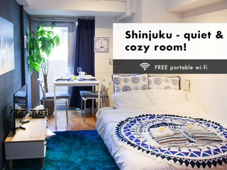 Shinjuku!Clean&Free Wifi, easy access to airport!