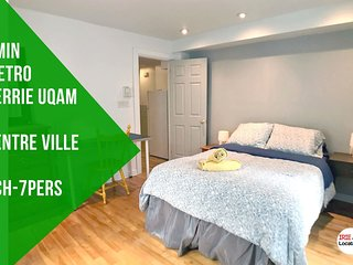 Aspen · 3rooms, 5 pers, 5 min berri Uqam, Downtown