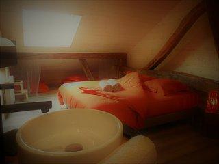 La Boucotte à Vellerot-lès-vercel / Chambre Agathis / jacuzzi et sauna
