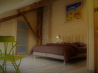 La Boucotte à Vellerot-lès-vercel / Chambre Epinette / jacuzzi et sauna