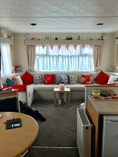 Living room double sofa bed pulls out of settee
