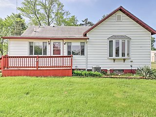Sawyer Home w/Huge Yard - 1 Mile to Lake Michigan!