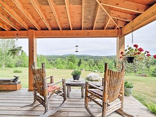 Remote Greensboro Home w/Porch & Countryside Views