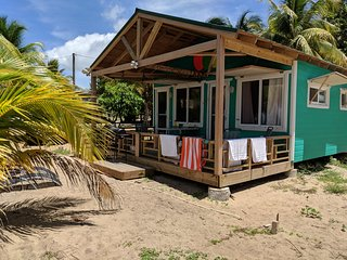 Cobia Beach Cottage. Caribbean beach front.