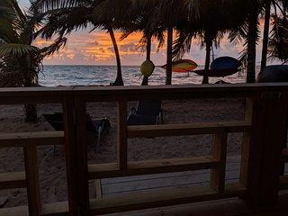 Cobia Beach Cottage. Caribbean beach front.  Duplex: Sleep 2 per side, 4 total.