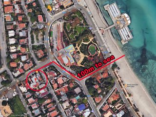 Villa in Palermo with Internet, Air conditioning, Washing machine (723831)
