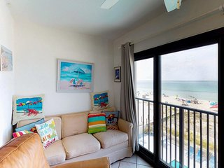 NEW LISTING! Beachfront condo w/stunning gulf views, shared pool & fitness room