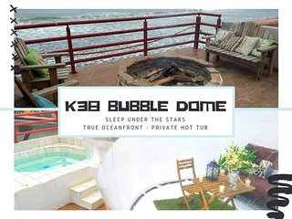 ★Available Labor Day★Oceanfront★ Hot Tub ★ K38 Bubble Dome★