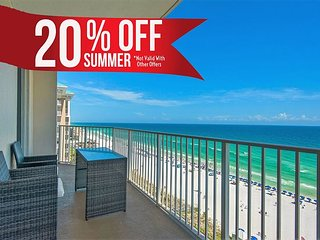 20% OFF Summer! GULF VIEW Deluxe Condo * Resort Pool/Spa + FREE VIP Perks!!!!