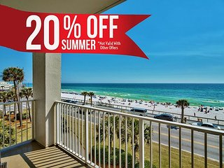 20% OFF Summer! GULF VIEW Beach Condo*Resort Pool/Spa Gym + FREE VIP Perks!!!