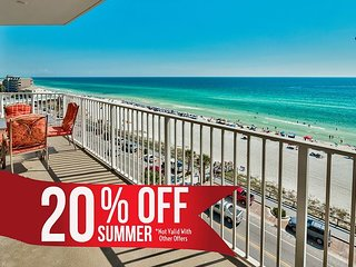 20% OFF Summer!! GULF VIEW Deluxe Condo * Resort Pool/Spa + FREE VIP Perks!!!