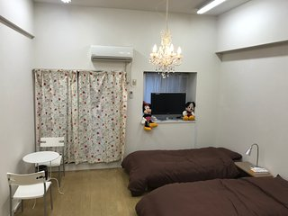 My room is in a fashionable city tenjin daimyo !