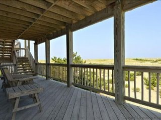 Gorgeous Ocean Front House on Hatteras Seashore, Private Pool, Hot Tub, Tiki Bar