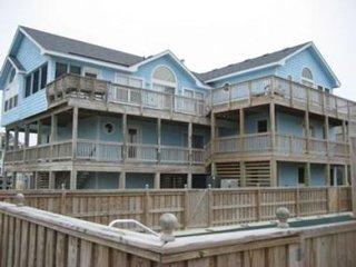 3rd row Whalehead beach house w/ private heated pool, elevator, pool table, hot
