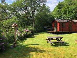 BRAMBLE LODGE | Romantic Riverside Lodge near Pucks Glen Dunoon Argyll