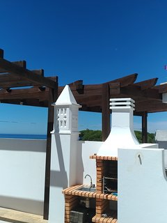 BBQ area on roof terrace , for the relaxing meals in