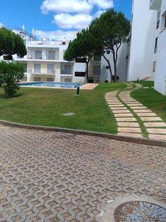 Resort gardens & walkway, all secure