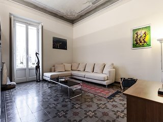 Apartment 1.3 km from the center of Milan with Internet, Air conditioning, Lift,