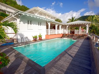 Splendide villa Caribéenne, vue forêt et mer