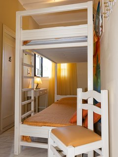 second bedroom with the bunk bed