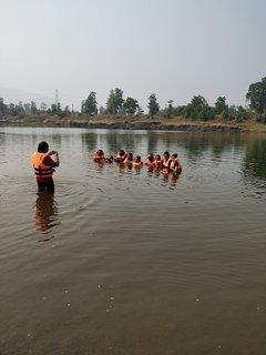 Swimming in River vaitarna