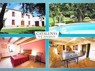 Catalunya Casas: Masia for 10-12 people, in the heart of Spanish wine country!
